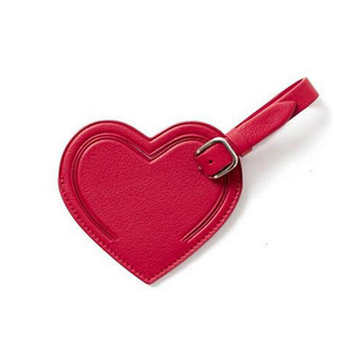 Beautiful Red Heart Shape Luggage Tag