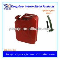5 gallon NATO metal jerry can/auto spare fuel tank/oil drum/gasoline bucket