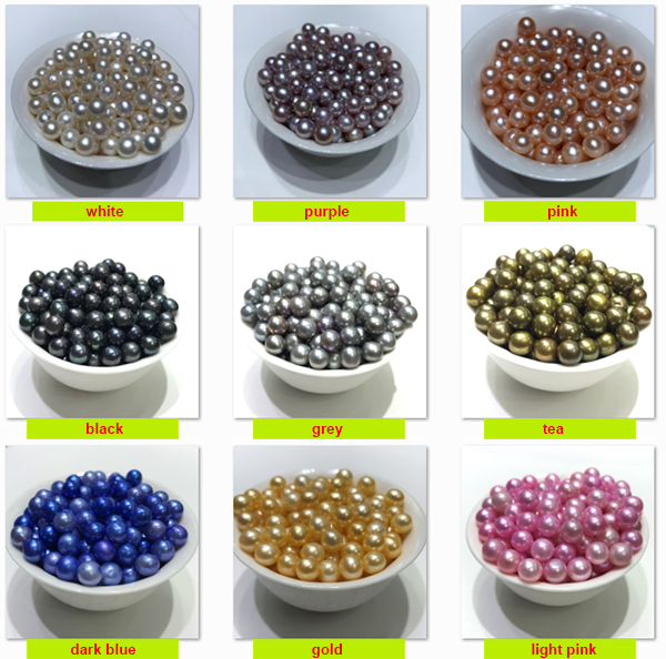 15 colors 6-7mm freshwater pearl loose pearls light pink purple black blue grey and so on
