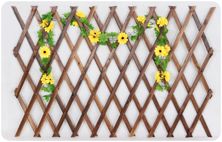 5ft Expanding Wooden Wall Panel Plant Climb Trellis Support Decorative Fence For Home Yard Garden Decoration