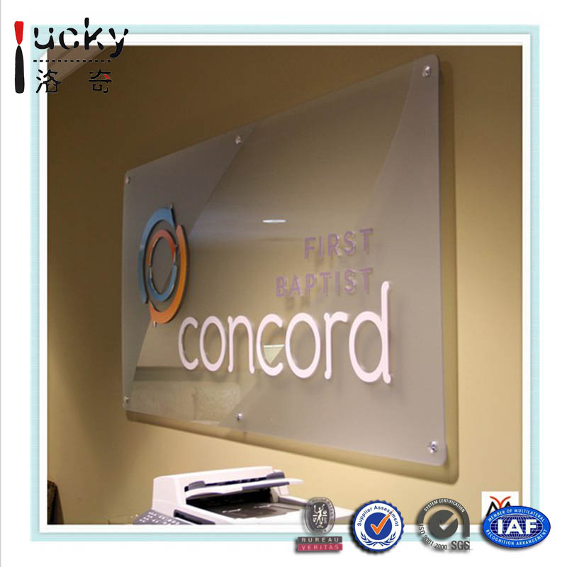 Acrylic Triangle Logo Display Acrylic Logo Block Nameplate