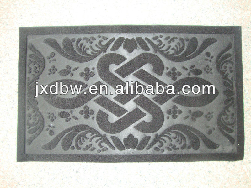 Anti Slip Christmas Decorated Rubber Stair Doormat