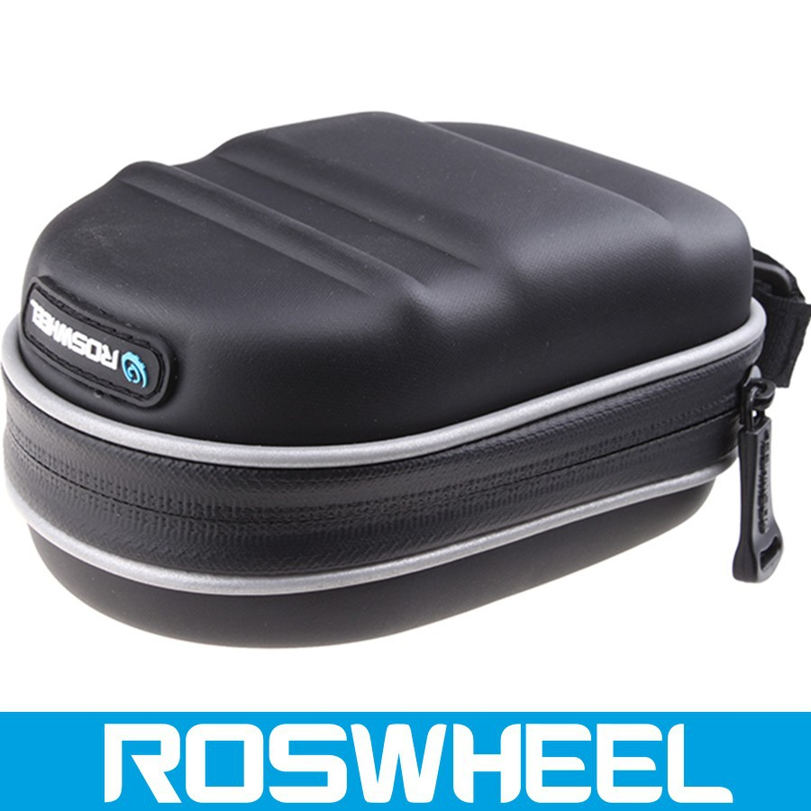 Wholesale logo customized waterproof leather bicycle saddle bag 13875-3 electric bike battery bag