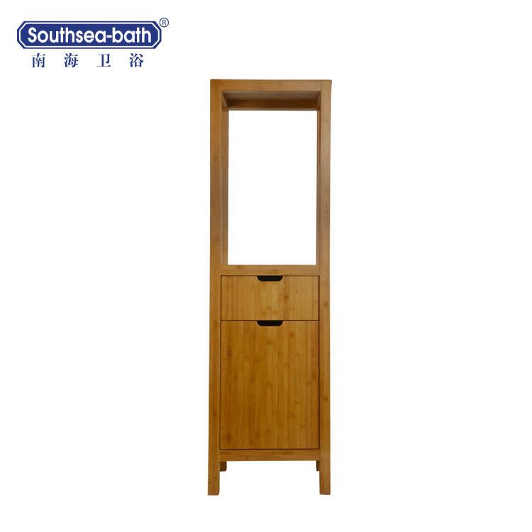 60'' Tall Mortise and tenon joint bamboo bathroom vanity