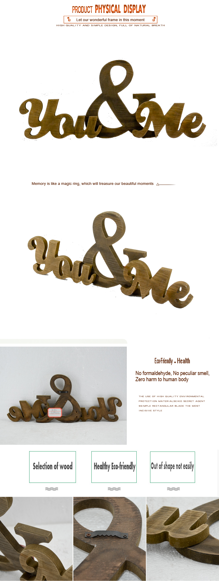 Rustic Wooden Wedding wall lover alphabet letter set