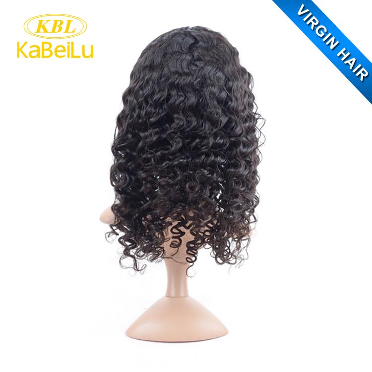 100 Brazilian Loose Wave Middle Part Lace Front Wig Men Black Men