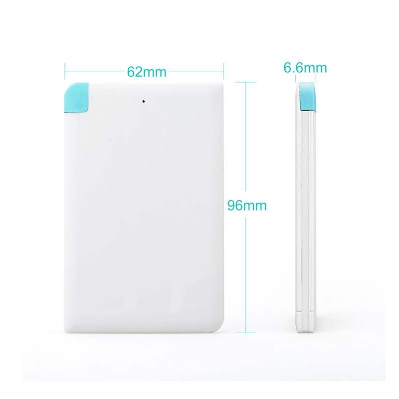 new products unique design ultra thin credit card shape power bank