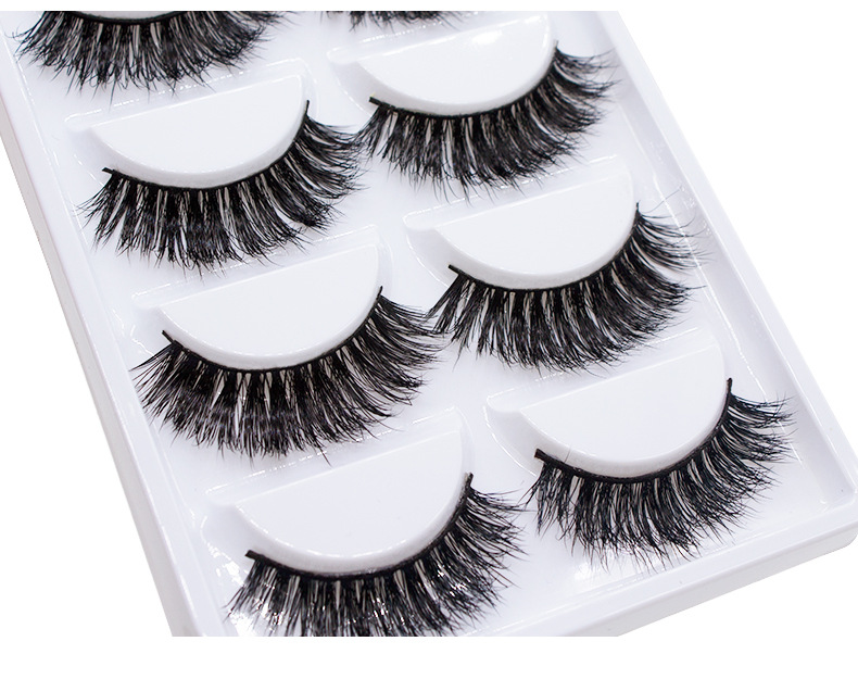 5 pairs 100% Real Fake Mink Eyelashes 3D Natural False Eyelashes Soft Eyelash Extension Makeup Kit