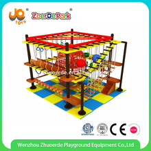 2017 Newest children ropes course indoor playground small playground