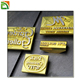 Popular Any Shape and Logo 3D metal stamp for leather paper label