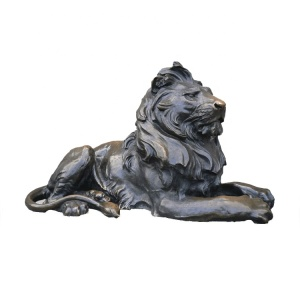 Large outdoor decor animal statues bronze lion statues