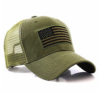 High profile camouflage hat embroidered logo trucker mesh cap army hat