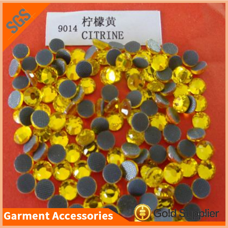 factory sale citrine hotfix rhinestone full style crystal stone for garment