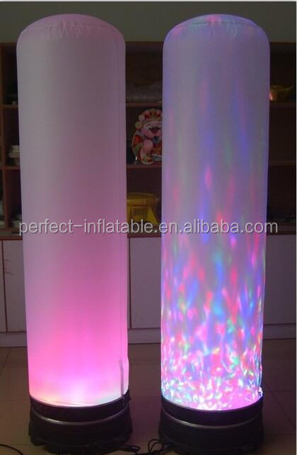 Customized size colorful inflatable column inflatable led light tube for sale