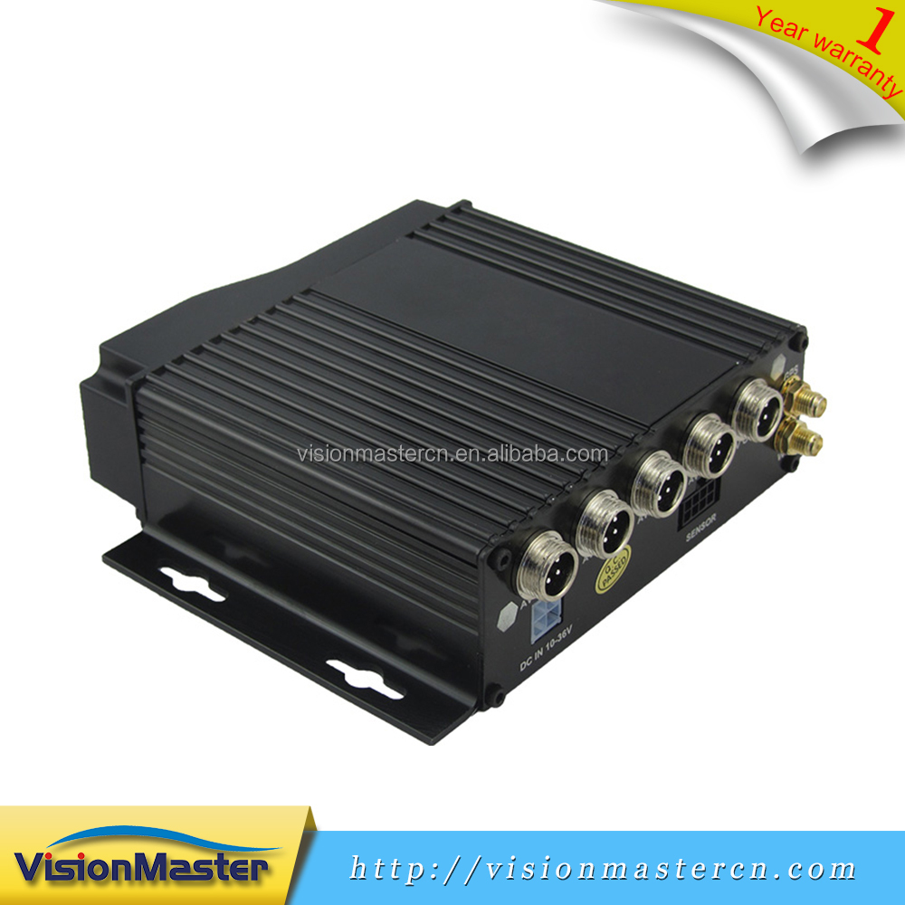 Factory Directly Supply 4 Channel Sd Card Vehicle 3G SIM DVR