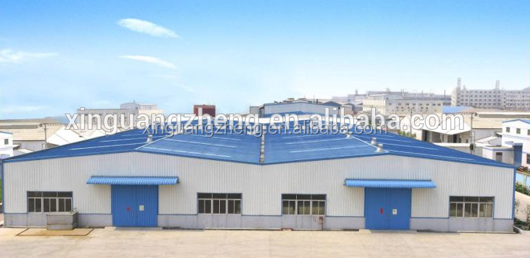 high quality prefab steel modern warehouse project, customized steel hangar