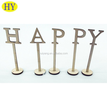 Custom Laser Cut Wooden Table Numbers with Holder Base for Weddings or Home Decoration Wholesale