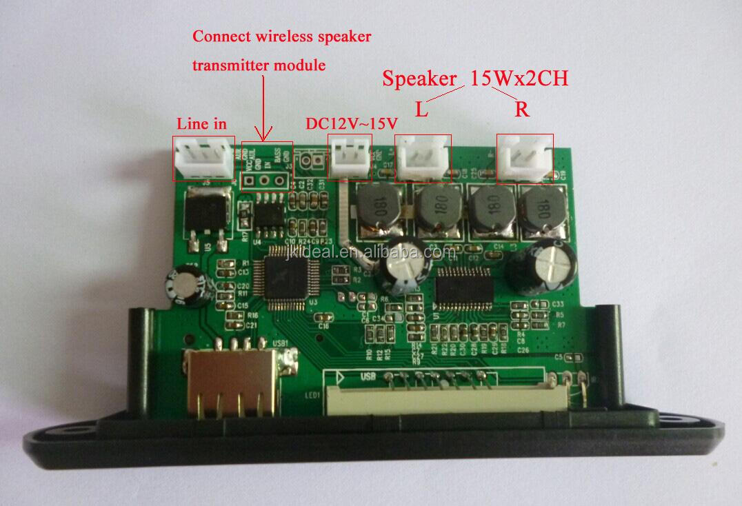 Made By Self Usb Speakers Circuit Board Jk6839a Amplifier 15w2ch Sd Fm Mp3