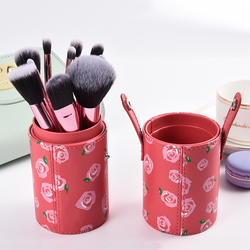 best selling products wholesale professional private label floower 12pcs brush holder makeup