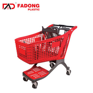 High quality 175L cheap plastic cleaning trolley push cart