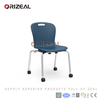 orizeal school furniture 2017 new product pp seat and metal leg school chair with wheel