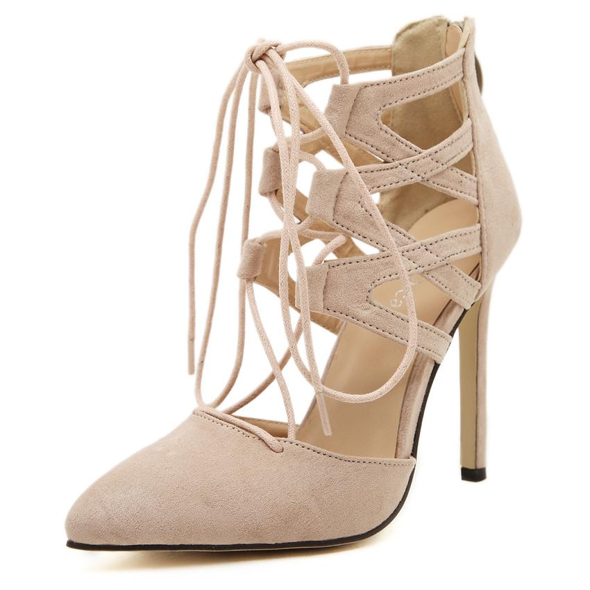 277270f9531e Get Quotations · Hot sexy pointed toe gladiator high heels women 11cm  stiletto heel closed toe pumps ladies summer