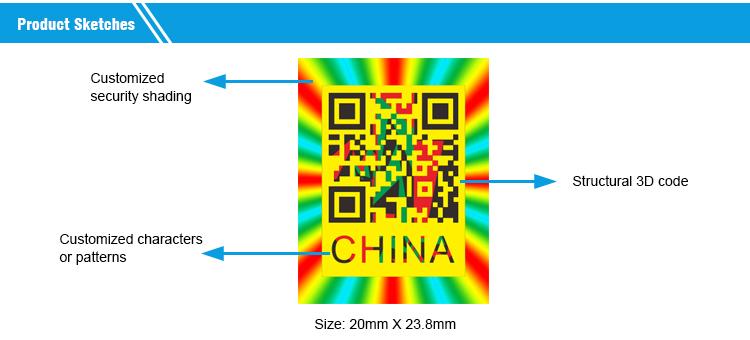 Private Label de PET Holográfico Anti-Falsificação Hot Stamping Foil