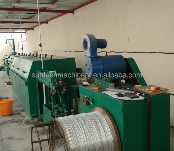 Single wire galvanizing line for bright surface wire