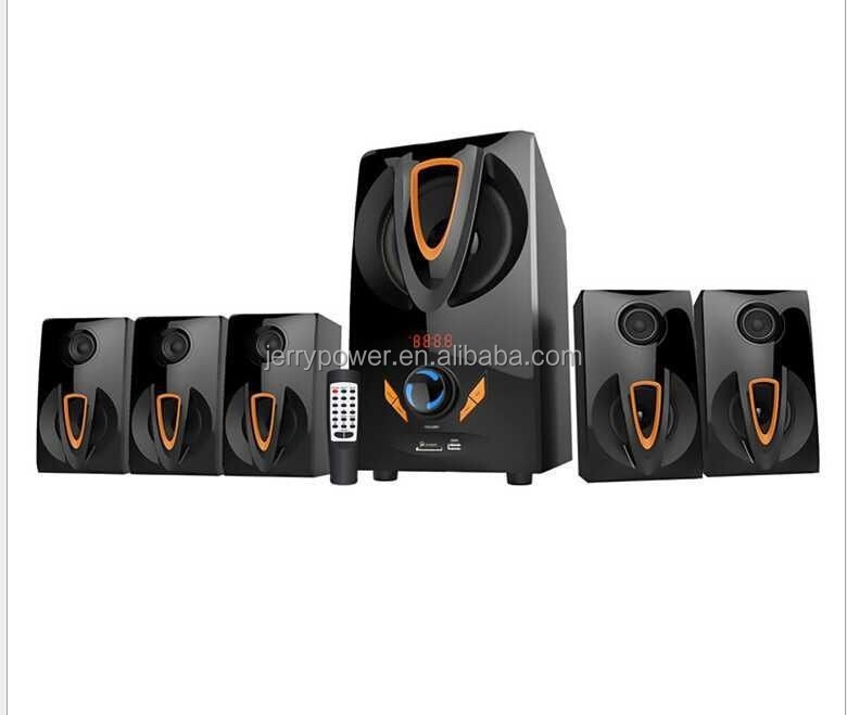 Promotional items novelties technological pa system portable pa 5.1 hometheater speaker radio x-bass with fm mic