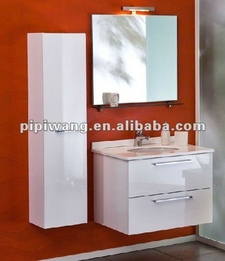 new Modern MDF 60 cm floor standing mirrored bathroom vanity