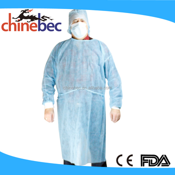cc089a0a55 Disposable Non Woven Clear Plastic Lab Coat Smock Coverall for Children