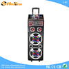 "Dual 10"" Rechargeable Trolley Speaker PA System with Bluetooth USB/SD/MP3/WMA Playe"