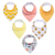 4 Pack for Boys and Girls Soft Cotton With Snaps for Teething Drooling Feeding Unisex Baby Shower Gift Baby Bibs Wholesale