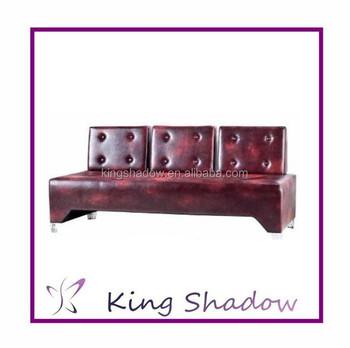 Leather Corner Sofa Home Salon Furniture Hair Reception 0207ye