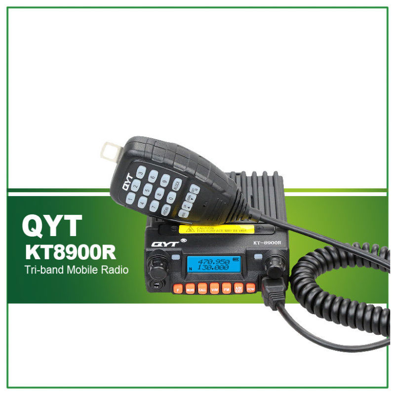 Tri Band Mobile Radio QYT KT-8900R Transceptor Carro