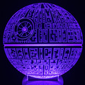 Free Shipping 1Piece The Force Awakens 16 colour Death Star Table Lamp toys 3D Death Star