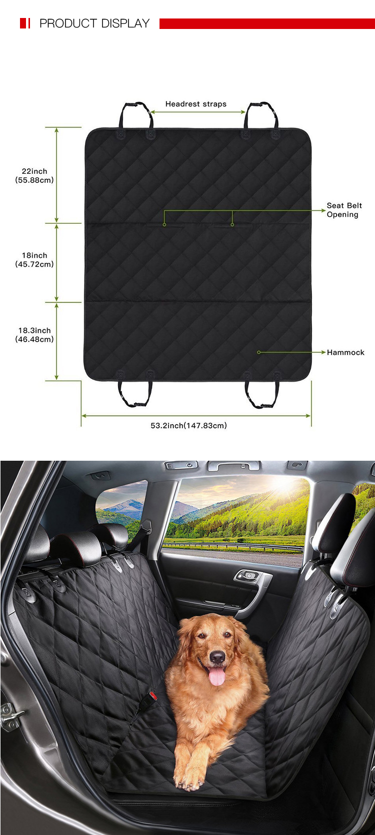 Newest Design Universal Size Pet Seat Cover Car
