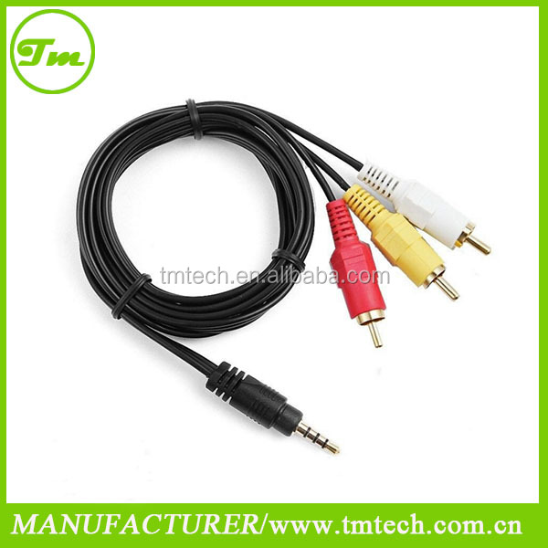 AV A/V Audio Video TV-Out rca Cables Cord Lead For Panasonic Camcorder
