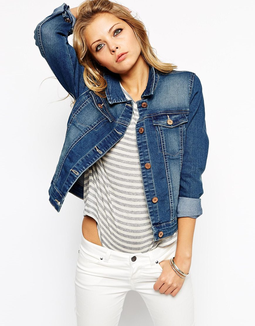 New Fashion Ripped Denim Jacket Light Blue Lot Rips Jeans Jackets ...