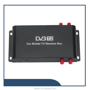 Car dvb-t2 tv tuner with 4 antennas 4 chipset inside with h.264 decorder can work at a stable speed :180km/h