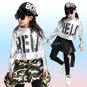 2017 New Modern Hip Hop Dance Costume Children Jazz Dance Costumes Girls  And Boys Black And Camouflage Dance Costume , Buy Hip Hop Dance  Costume,Jazz