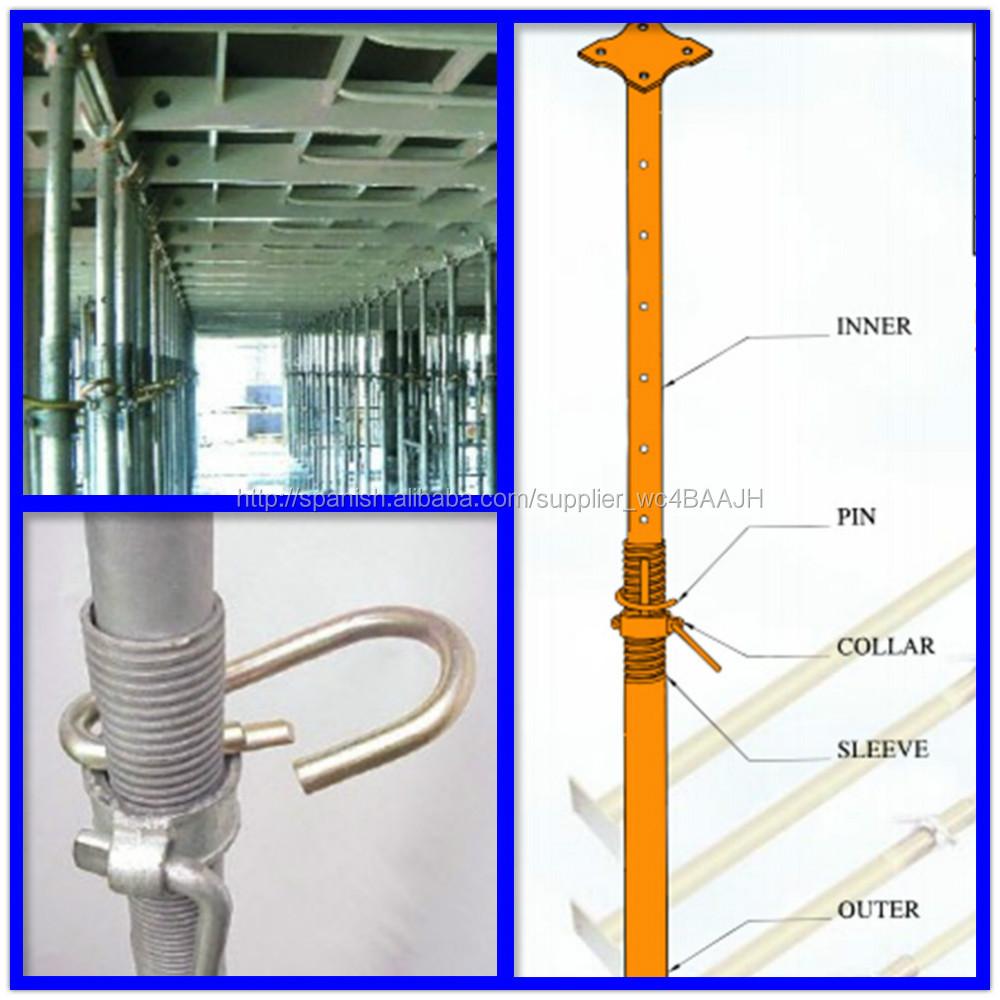 sistemas de apuntalamiento puntales metalicos piezas de