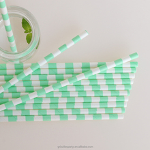 Light Green and White Paper Drinking Straws Party Decorations Perfect for Kids 1st Birthday Parties, Cocktails and Cookouts