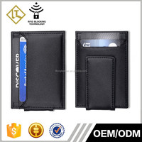 Hot Selling Metal Men's Credit Card Holder Leather Magnetic Money Clip