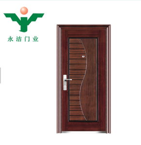 Crazy hot sale steel door price classical panel apartment solid core steel door