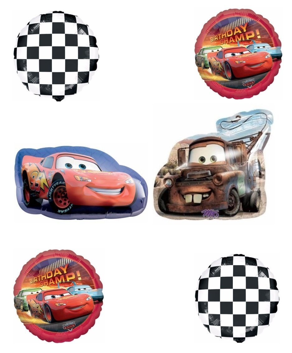 Disney's Cars Birthday Champ Balloon Decoration Kit by Party Supplies
