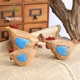 Pine Wooden Handicraft Set Chickens Creative Gifts Small Animal Home Decoration Wood Carving Handy Arts And Craft Decoration