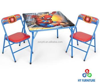 Table Et Chaises Pliantes En Metal Pour Petits Enfants Avec