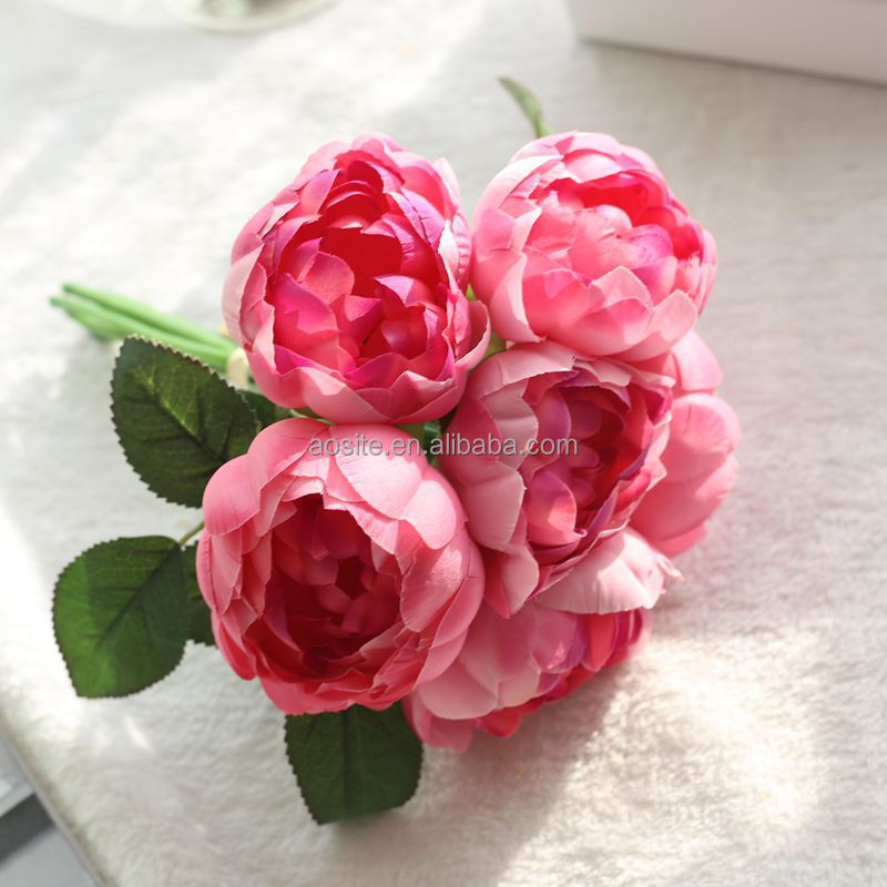 Wholesale Cheap Silk Artificial Flower silk peony for wedding