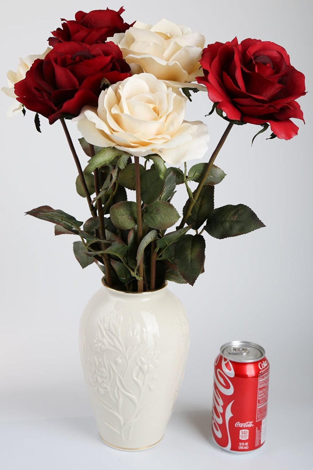 Cheap large cream vase find large cream vase deals on line at get quotations silkenbloom artificial cream and red silk queen roses in lenox cream vase reviewsmspy
